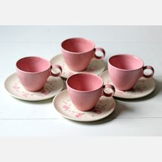 Modern Cups & Saucers Set Of 4, $47, now featured on Fab.