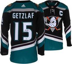 962e7a20254 Ryan Getzlaf Anaheim Ducks Signed Black/Teal Alternate Adidas Authentic  Jersey