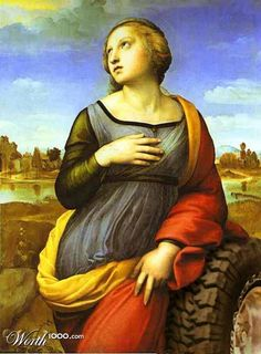 """St. Catherine of the Wheel time travel from """"Catherine of Alexandria"""" by Raphael"""