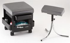 Kayline Pedicure Storage Cabinet and Foot Rest Combo