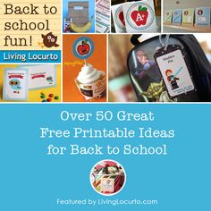 A huge list of back to school free printables. Round-up feature by Amy Locurto at LivingLocurto.com