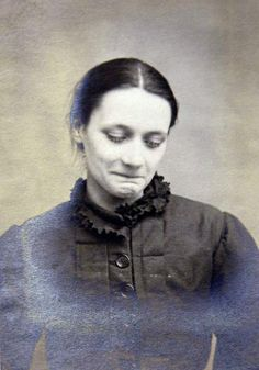 Beatrice Tetley, psychiatric patient at Wakefield Hospital for melancholy, 1897.  I wish I could help her. <3