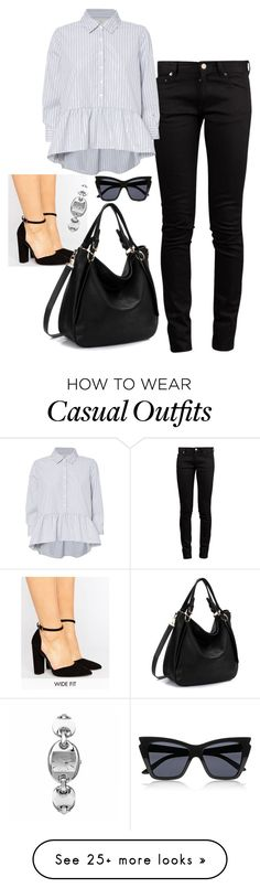 """Casual Corporate attire"" by jellymae on Polyvore featuring ASOS, Yves Saint Laurent, Gucci and Le Specs"