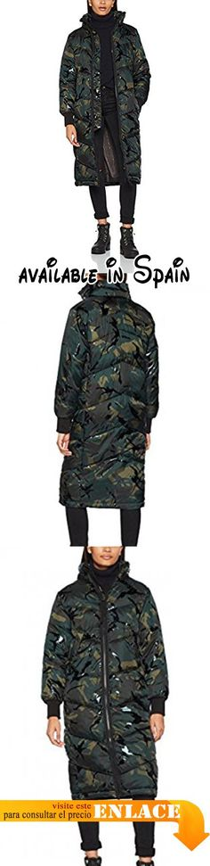 B072L85JFY : G-STAR RAW Alaska Bf Long Coat Wmn Abrigo para Mujer Multicolor (Asfalt/Black Ao 7238) Small.