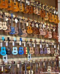Wall full of ukes