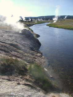 Yellow Stone National Park, Wyoming - the steam rising out of the ground is really something else - it gives you a glimps of what's really underneath the earth waiting to explode!