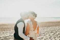 beach wedding photography | Image by Thuriane Photography   #beachwedding #wedding #beach #coast #sand #sea #ocean #bride #groom #realwedding #france #frenchwedding