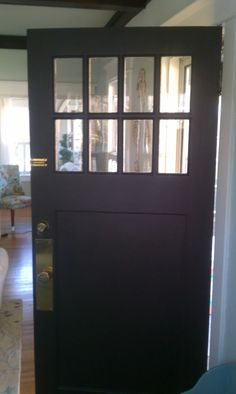 Updated front door from red to turkish coffee by Sherwin Williams