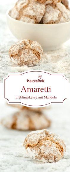 Keks Rezept: Amaretti sind ein tolles Gebäck mit Mandeln. Unter den Plätzchen einer meiner Lieblinge. Rezept von herzelieb