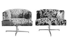 HD Buttercup Cowhide Chairs