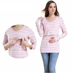 319653b28e633 Maternity Moms Patchwork Maternity Clothes for Pregnant Woman in Winter Nursing  Clothes Maternity Tops Breastfeeding T