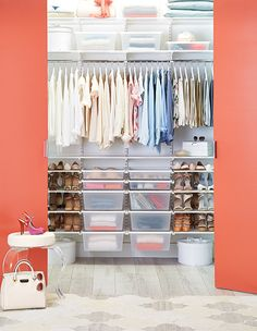 Make your closet an organized oasis with elfa closet solutions!