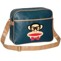 Paul Frank Julius with Bow Tie Despatch / Shoulder Bag available at KidsDoTravel http://kidsdotravel.co.uk/childrens-backpacks-shoulder-bags-and-kit-bags/backpacks-and-shoulder-bags-for-older-children/paul-frank-despatch-bag-julius-with-bow-tie-navy