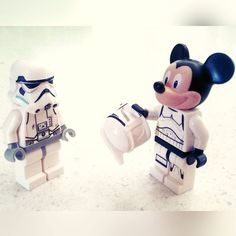 How the hell did your head fit in that!? #lego #disney #starwars #mickeymouse #stormtrooper #clonetrooper #minifigs #minifigures #lego_hub #afol #legophotography #legostagram #brickfan #4brickstall #toys #nerd #iplaywithmytoys by firewalkwithniffany
