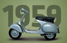 The legendary Vespa 150 GS VS5 (Gran Sport).
