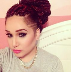 Can I Just... <3 box braids with shaved side