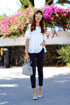 "Michael Kors Bags, Christian Dior Sunglasses, Sheinside Tops | ""Silver and Dots"" by marianelahd 