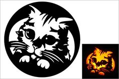10 Free Pumpkin Stencils for Halloween Cat Lovers! | Pictures of Cats - Band of Cats