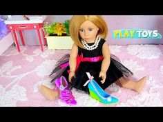 Baby Doll Hair Cut Shop! Play American Girl Doll Spa Chair & Hair Style Salon by Play Toys ! - YouTube