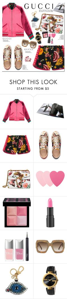 """""""Presenting the Gucci Garden Exclusive Collection: Contest Entry"""" by chicoshint ❤ liked on Polyvore featuring Gucci, Sephora Collection, Givenchy, too cool for school, Christian Dior and gucci"""
