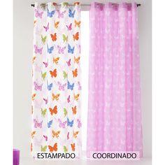 Cortinas de Mariposas para Dormitorio Infantil.