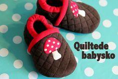 Quiltede babysko - DIY  (brug evt fleece istedet for pladevat)| LaRaLiL