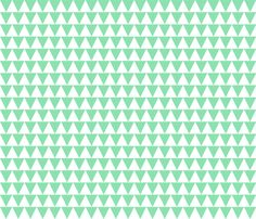 mint triangles fabric by norasbows on Spoonflower - custom fabric