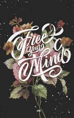 Free Your Mind by Rafa Miguel #lettering #calligraphy