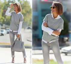 grey jeans and total grey jeans by GalantGirl.com