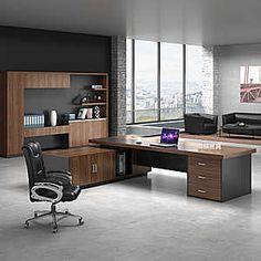 老板桌椅组合简约现代办公家具总裁桌大气大班台时尚单人办公桌 - 天猫精选
