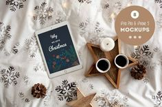 Christmas in bed - 8 photo mockups by show it better on @creativemarket