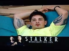 haha>> Best Ad Placement: As BIG BROTHER's Caleb continued to creepily obsess over fellow housemate Amber, the bottom half of the screen featured a large ad for the upcoming CBS show STALKER.
