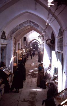 gold bazaar, isfahan, iran (1969)   shopping + travel