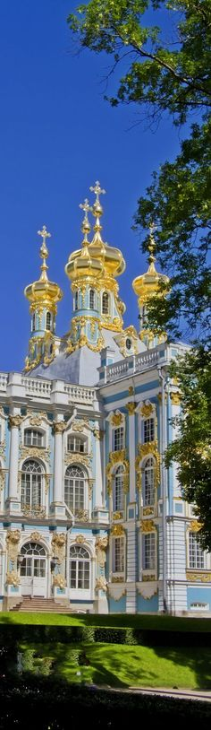 Chapel at the Catherine Palace near St. Petersburg, Russia