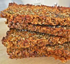 Vegan tomato and carrot crackers with nuts and seeds: gluten free, grain free, dairy free