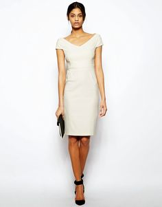 Buy Vesper Sexy Pencil Dress with Bardot Neck at ASOS. With free delivery and return options (Ts&Cs apply), online shopping has never been so easy. Get the latest trends with ASOS now. Laura Lee, Col Bardot, Asos, Pencil Dress, Sport, Sexy, White Dress, Dresses For Work, My Style