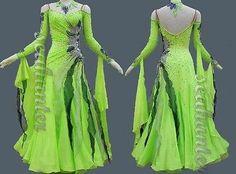 999c Stage Proformance Ballroom Waltz tango foxstep standard dance dress US 10