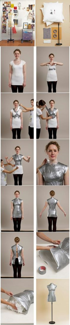 DIY step by step duct tape cosplay armor - Lexx Morton - BildMy Double duct tape dress form.Image uploaded by amy. Find images and videos about moda, diy and free crafts on We Heart It - the app to get lost in what you Tutorial Cosplay, Cosplay Diy, Diy Step By Step, Diy Kleidung, Diy Couture, Diy Fashion, Fashion Design, Diy Clothing, Duct Tape
