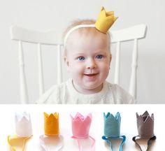 Felt Crown Headband for Babies 1 pcs by kokokoshop on Etsy, $14.50