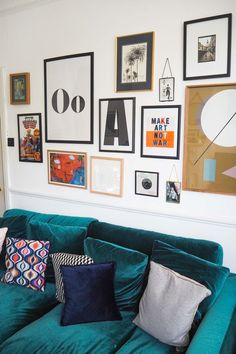 Affordable Art and tips on how to make it work in your home. The Frugality talks through affordable original art and how to create a good gallery wall. Living Room Art, Living Room Modern, Home And Living, Living Spaces, Affordable Wall Art, Layout, Simple House, Cheap Home Decor, Diy Room Decor