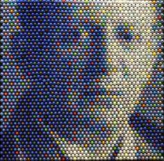 Granville, OH artist Christian Faur crayon pixel painting
