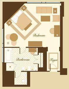 34 best hotel room plan images on Pinterest | Room planning ...