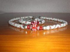 https://flic.kr/p/8sLmXD | Collar y pulsera de crochet........Gracias Maria..........