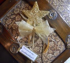 Gold Will You Be My Godmother Wand by paulawellsstudio on Etsy