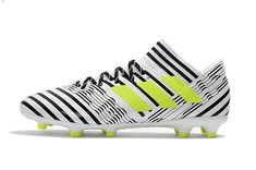 sports shoes 6e8c5 bf39c 2017-2018 FIFA World CUP New Soccer Cleats Adidas Nemeziz Messi 17 1 FG  White Black Yellow