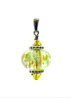 Omnipot Furnace -- ヴァレリー(6) カンタループ Lampwork Beads, Christmas Bulbs, Holiday Decor, Christmas Light Bulbs