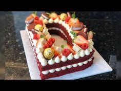 Pastel de Letra | Red velvet | creamcheese - YouTube