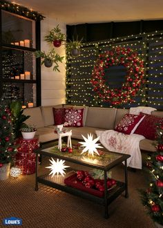 make your screened porch glow this holiday season with these brilliant lighting ideas layers of - Christmas Decor Living Room Pinterest