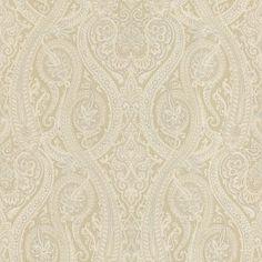 Defined pg 3 | 58-54448 Forsythe Damask Paisley Wallpaper | natural grey gold