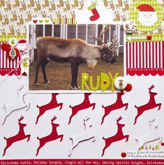 Rudy - Scrapbook.com - Fabulous die cut deer!